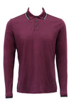 Stone Rose Burgundy Speckle Knit Long Sleeve Polo