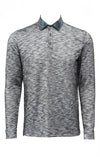 Stone Rose Black Flame Knit Long Sleeve Polo