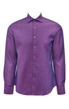 Stone Rose Purple Waffled Textured Dress Shirt
