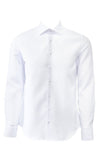 Stone Rose Waffle Textured Dress Shirt White