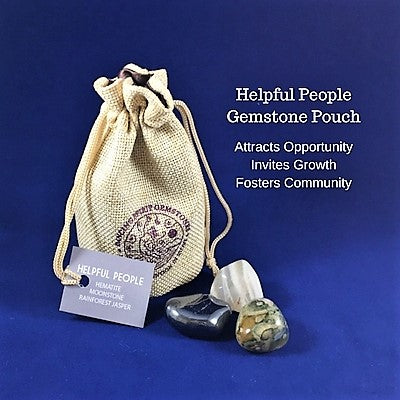 Helpful People Gemstone Pouch