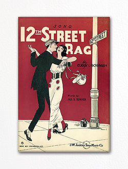 12th Street Rag Sheet Music Cover Fridge Magnet