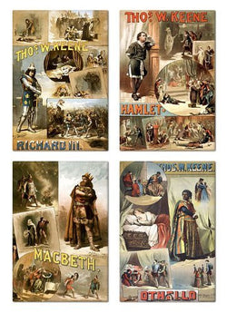 Thomas W. Keene Shakespeare Poster Fridge Magnet Set