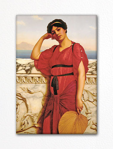 A Classical Lady John William Godward Fridge Magnet