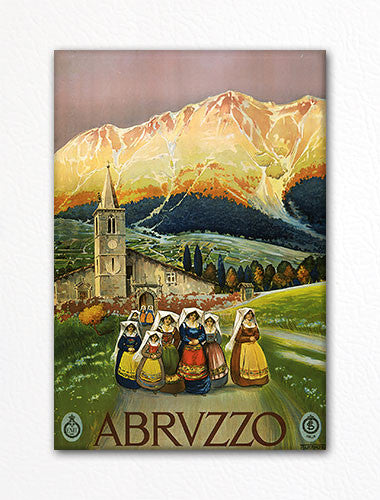 Abruzzo Italy Advertising Poster Artwork Fridge Magnet