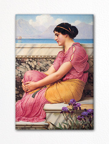 Absence Makes the Heart Grow Fonder John William Godward Fridge Magnet