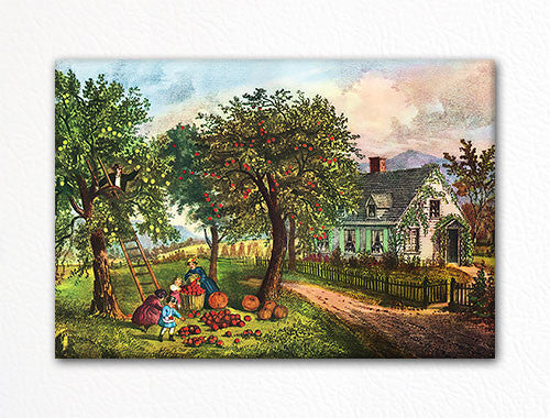American Homestead Autumn Currier & Ives Fridge Magnet