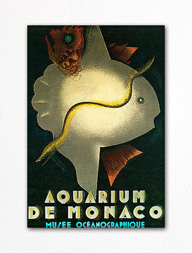Aquarium de Monaco Advertising Poster Fridge Magnet