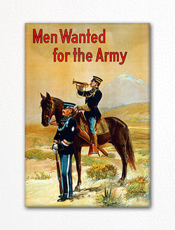 Men Wanted for the Army WWI Recruiting Poster Fridge Magnet