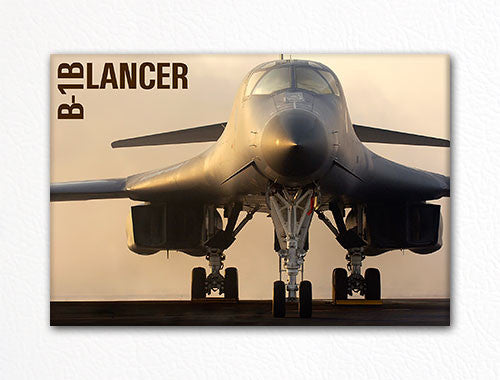 "B-1B Lancer USAF Bomber ""Head On"" Fridge Magnet"
