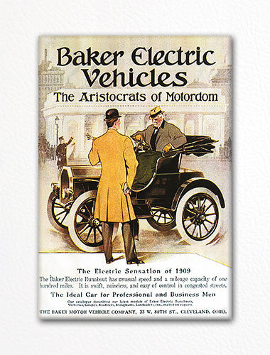 Baker Electric Vehicles Advertisement Fridge Magnet