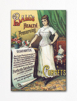 Ball's Health Preserving Corsets Advertisement Fridge Magnet
