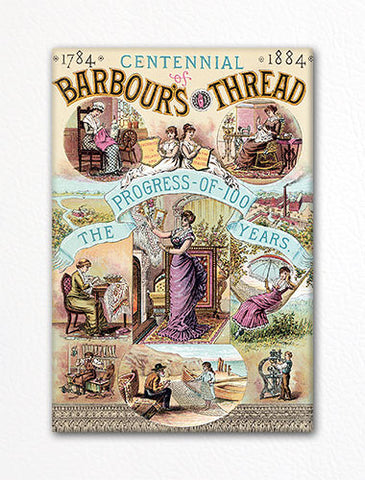 Barbour's Thread Advertisement Fridge Magnet