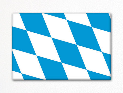 Flag of Bavaria Bavarian Flag Fridge Magnet