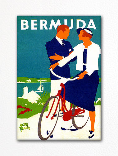 Bermuda Vintage Advertisement Poster Fridge Magnet