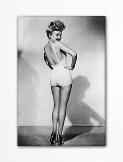 Betty Grable Famous Pin-Up Fridge Magnet