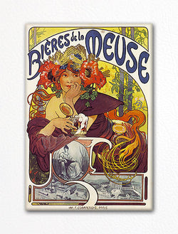 Bieres de la Meuse Advertising Art Fridge Magnet