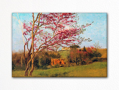 Blossoming Red Almond John William Godward Fridge Magnet