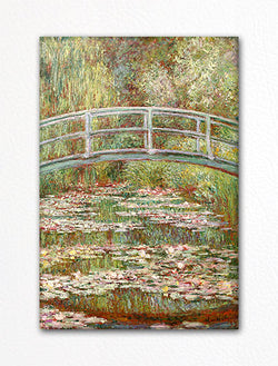 Bridge over a Pond of Water Lilies Claude Monet Painting Fridge Magnet
