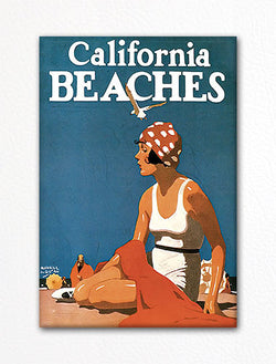 California Beaches Advertisement Fridge Magnet