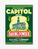 Capitol Brand Baking Powder Label Art Fridge Magnet
