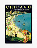 Chicago the Vacation City Advertisement Fridge Magnet