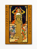 Cincinnati 1903 Fall Festival Advertisement Fridge Magnet