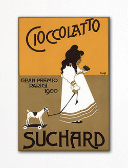 Suchard Cioccolatto Advertising Art Fridge Magnet