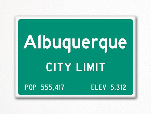Albuquerque City Limit Sign Fridge Magnet