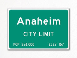 Anaheim City Limit Sign Fridge Magnet