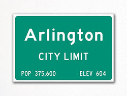 Arlington City Limit Sign Fridge Magnet