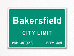 Bakersfield City Limit Sign Fridge Magnet