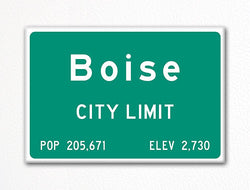 Boise City Limit Sign Fridge Magnet