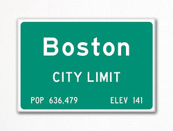 Boston City Limit Sign Fridge Magnet