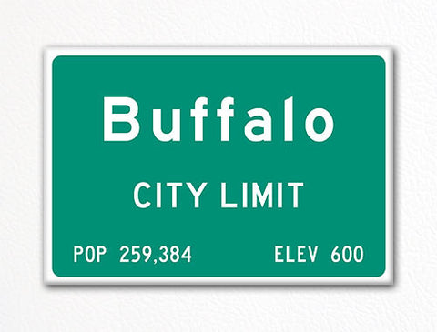 Buffalo City Limit Sign Fridge Magnet