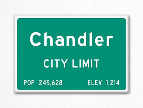 Chandler City Limit Sign Fridge Magnet