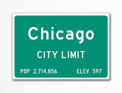 Chicago City Limit Sign Fridge Magnet