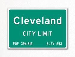 Cleveland City Limit Sign Fridge Magnet