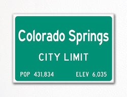 Colorado Springs City Limit Sign Fridge Magnet