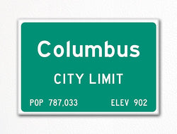 Columbus City Limit Sign Fridge Magnet