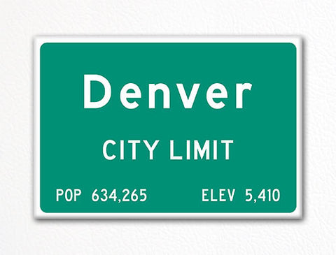Denver City Limit Sign Fridge Magnet
