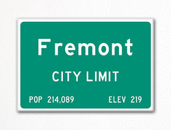 Fremont City Limit Sign Fridge Magnet
