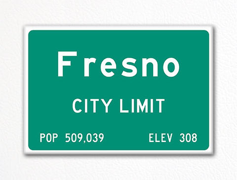 Fresno City Limit Sign Fridge Magnet