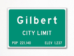 Gilbert City Limit Sign Fridge Magnet