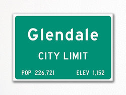 Glendale Arizona City Limit Sign Fridge Magnet