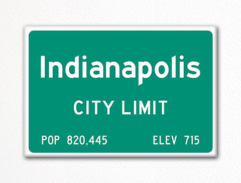 Indianapolis City Limit Sign Fridge Magnet