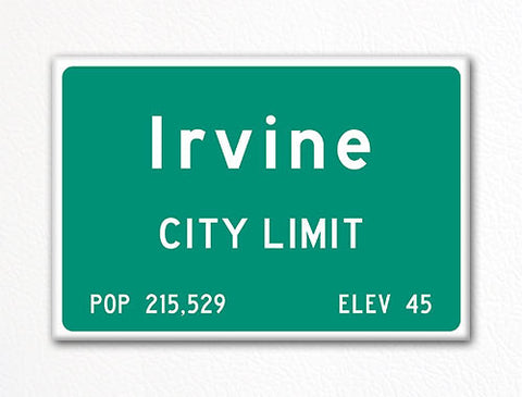 Irvine City Limit Sign Fridge Magnet