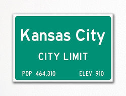 Kansas City City Limit Sign Fridge Magnet