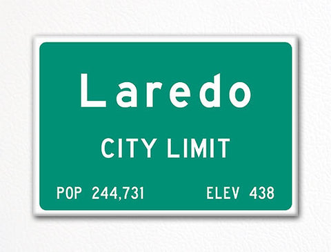 Laredo City Limit Sign Fridge Magnet