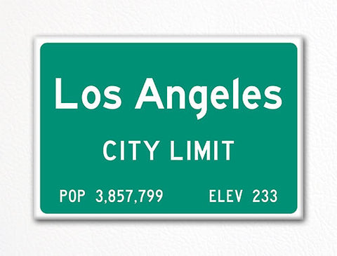 Los Angeles City Limit Sign Souvenir Fridge Magnet